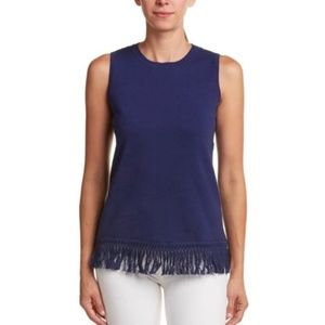NWT SAIL to SABLE Fringe Sleeveless Sweater Top